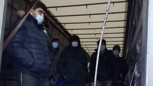 Zadržení migrantů.