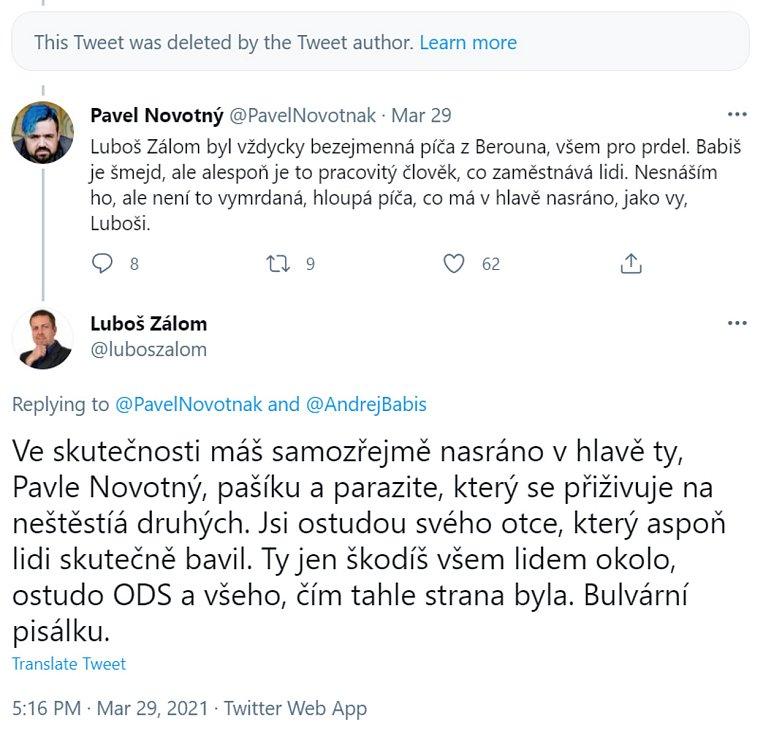 Tweety mezi politiky.