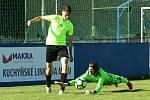 Fotbalová I. B třída: Králův Dvůr B - Hořovicko B 7:1. V derby rezerv byli lepší Cábelíci (v zeleném).