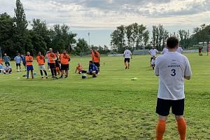 Z fotbalového turnaje v Hořovicích, který uspořádal poslanec Jan Skopeček (ODS).
