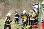 Taktické cvičení simulovalo nehodu autobusu a auta