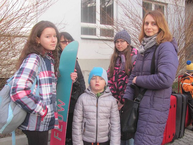 Pionýři ze Základní školy Beroun Závodí odjíždějí na hory