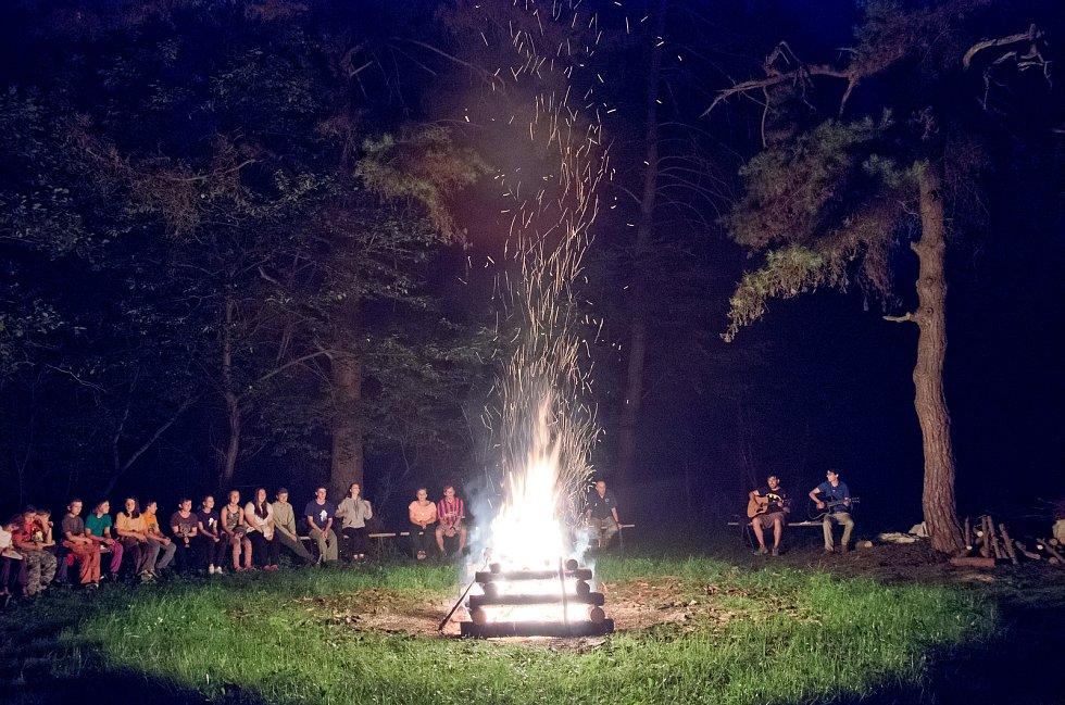 Táborový klub Zálesák Liteň tradičně pořádá letní stanové tábory.