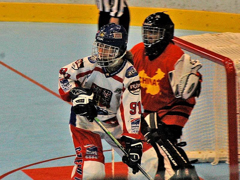 České reprezentantky v prvním utkání mistrovství světa v Berouně deklasovaly Čínu 13:0