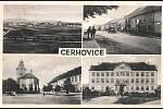 Historická pohlednice z Cerhovic.