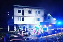 Požár garáže v Nižboru.