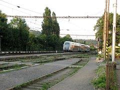 Vlakové nádraží v Zadní Třebáni