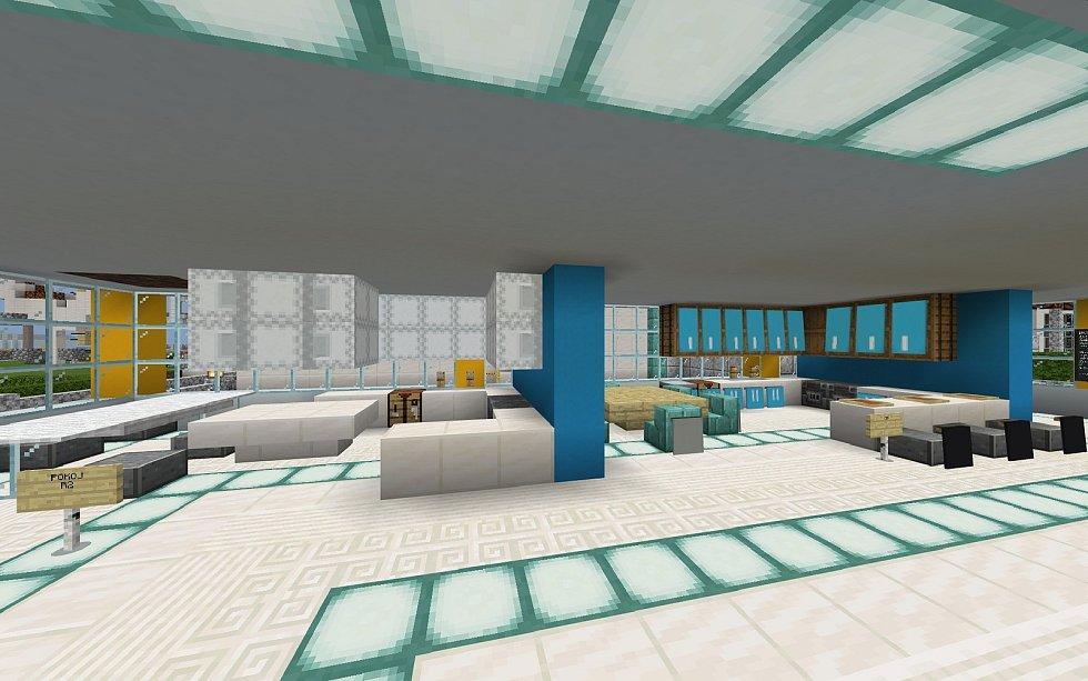 Obchodní dům s nábytkem - stavěla Michaela Tošnarová.
