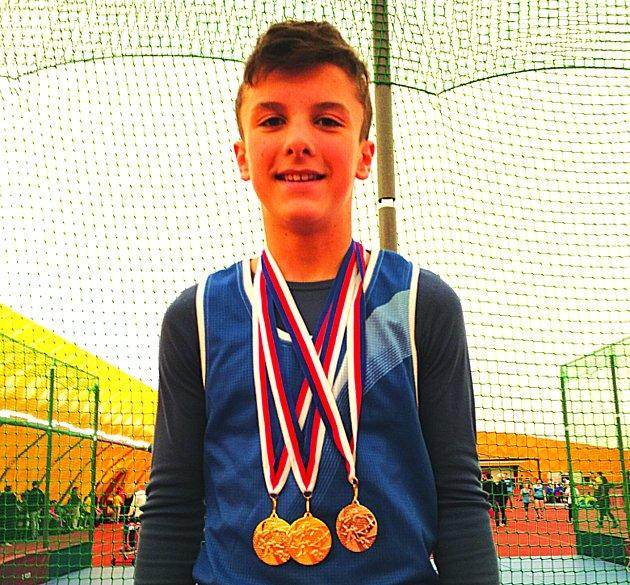 Berounský atlet uspěl vkonkurenci Středočechů.