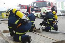 Zásahové cvičení hasičů v Žebráku