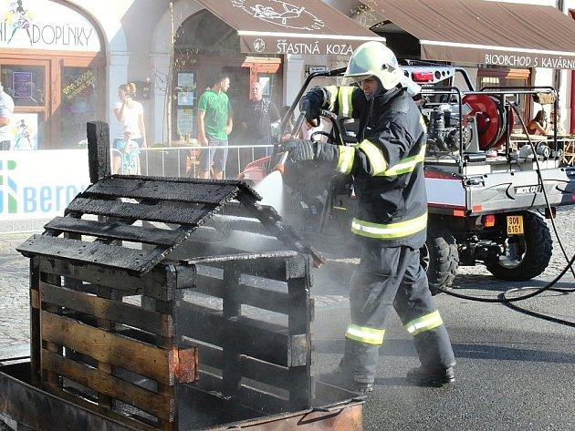 Oslavy 60. výročí profesionálního sboru hasičů v Berouně