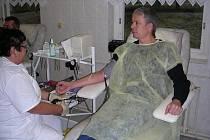 Další z čestných dárců v hořovické nemocnici.