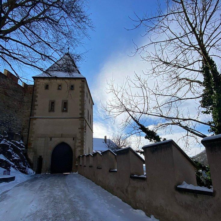 Karlštejn v zimě.