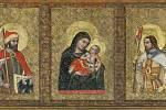 Středočeské památky ve správě Národního památkového ústavu. Na snímku státní hrad Karlštejn – kaple sv. Kříže, triptych Tomaso di Modena