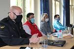 Setkání na radnici v Berouně se zástupci institucí, které se v době nouzového stavu podílely na bezproblémovém chodu služeb ve městě.