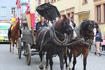 Oslavy výročí Karla IV., příjezd vévody bavorského Štěpána II. do Berouna