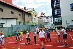 Družinový turnaj ve vybíjené v ZŠ Beroun - Závodí.