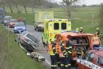 Nehoda na silnici číslo 11533 blízko berounské městské čísti Jarov ve směru na Koněprusy.