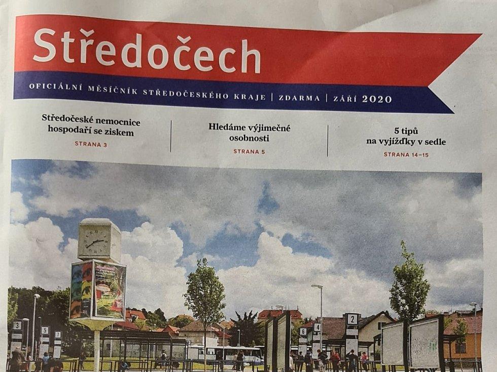 Titulní strana jednoho z čísel měsíčníku Středočech.