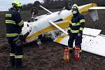 Na Berounsku havarovalo malé letadlo.