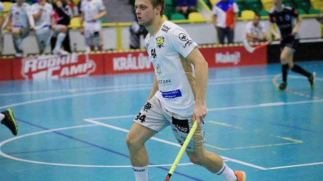Florbalista Martin Štěpnička byl nejlepším hráčem Lucernu v zápase s Jaroměří.
