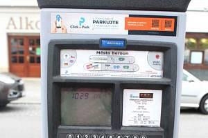 Parkovací automat v Berouně.