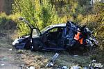 Řidič kamionu narazil na D5 do osobního vozu, jeho řidička utrpěla vážná zranění
