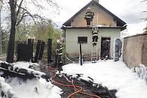 Hasiči zasahovali u požáru odpadu v Rudné.