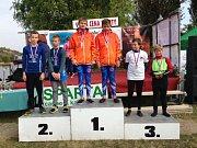 Na třetím místě v kategorii C2 na jednu míli skončili Ondra Rašek a Ondra Kondrčík.
