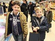 Bezpečnostní policejní akce v obchodním domě Lidl v Berouně.
