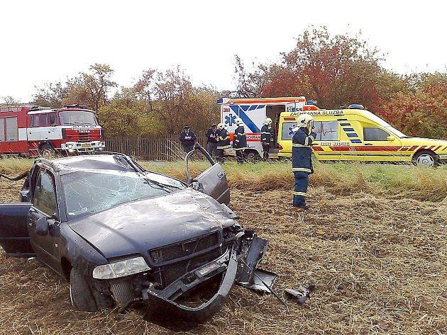 Nehoda u Řevnic si naštěstí nevybrala oběť na životě