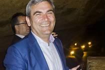 Koněpruské jeskyně navštívil gruzínský ministr Gigli Agulašvili
