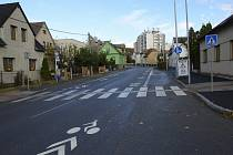 Nové piktogramy pro cyklisty v Berouně.