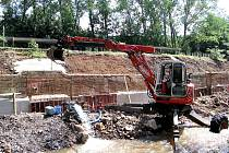 Oprava hráze Červeného potoka Osek