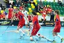 České florbalové juniory porazily Švýcarky ve všech třech zápasech.