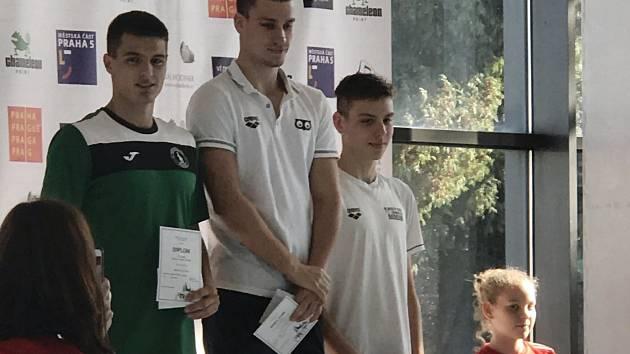 Velká cena Prahy: 1. místo Tomáš Ludvík (uprostřed), 3. místo David Ludvík (vpravo).