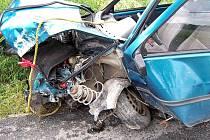Autonehoda u obce Korno