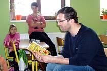 V Hořovicích dětem předčítal spisovatel David Laňka