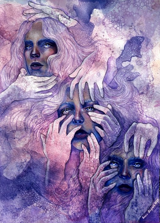 1. místo: Ztraceni v temnotě. Autor: Aneta Šleglová.