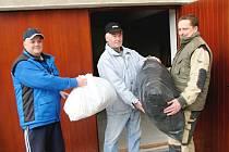 V Hudlicích byla humanitární sbírka.