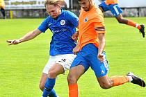 Hořovický Kristian Majid otevřel skóre proti Lomu.