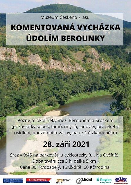 Plakát kvycházce kolem Berounky.