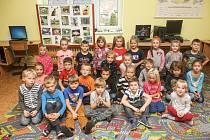 Prvňáčci Základní školy v Hýskově ve školním roce 2019/2020.