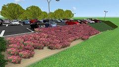 Vizualizace nového parkoviště u hořovické nemocnice s kapacitou 208 míst.