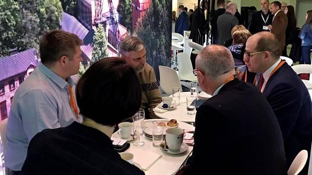 Prezentace Středočeského kraje na veletrhu Expocentr v Moskvě.