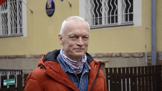 Starosta Svatého Jana pod Skalou Jiří Bouček.
