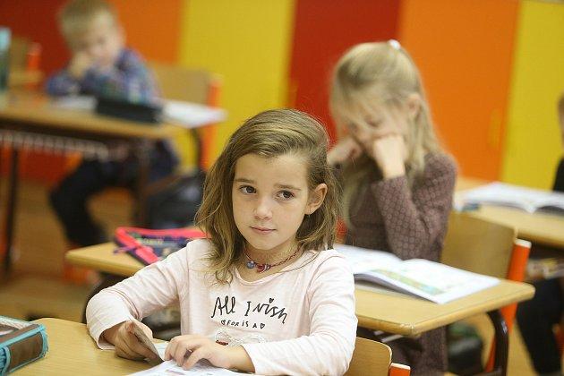 Prvňáci ze ZŠ Nižbor ve školním roce 2019/2020.