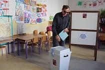 První den komunálních voleb v Berouně.