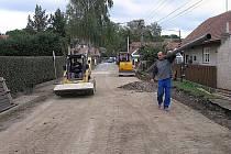 Výstavba kanalizace v Bykoši