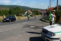 Policejní rekonstrukce smrtelné autonehody v Bavoryni.